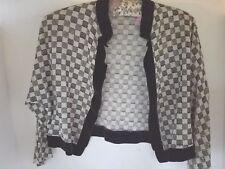 Women's Clothing Clothing, Shoes & Accessories Honey Vintage St John Marie Gray Blue Black Trim Santana Knit Cropped Bolero Jacket 10