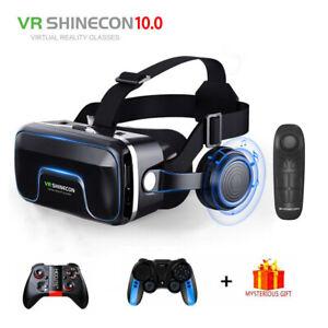 Casco De Realidad Gafas 3D Virtual VR Auriculares Bluetooth Control Remoto Juego