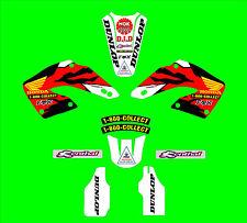 2000-2001 Honda CR125 250 Jeremy McGrath kit de gráficos réplica
