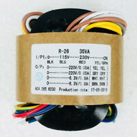35W Sec Voltage 220V x2 + 6.3V x2 R-Core Transformer for TUBE preamp DAC amp diy