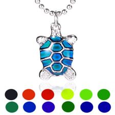 Turtle Sensitive Liquid Crystal Thermo Mood Changing Color Pendant Necklace