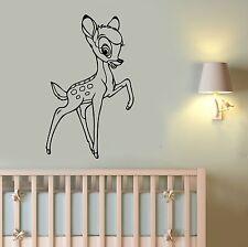 Disney Bambi Wall Sticker Vinyl Decal Cartoon Art Bedroom Nursery Decor bem4