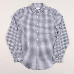 Lacoste LS Check Shirt CH9906 - Waterfall Blue/Navy Blue DBS
