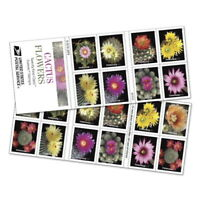 USPS New Cactus Flowers Booklet of 20