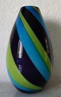 Colorato a Righe Vaso Vetro Vaso Fiori Vaso Design 1387 G Altezza Circa 27,0 CM