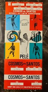 1977 Pele Last Game FULL Ticket NY Cosmos Vs Santos Get It Graded PSA 10 ! GOAT