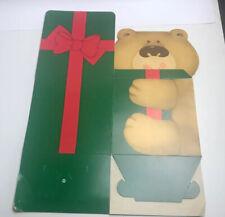 Vintage Christmas Holiday Gift Box Teddy Bear Present Old Rare