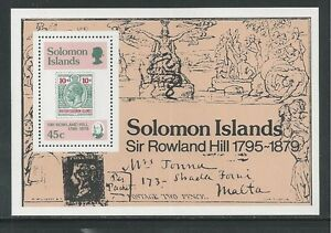 SOLOMON ISLANDS # 396 SIR ROWLAND HILL Souvenir Sheet