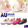 New Kids Infant Girls Leather Flats Wedding Party Toddler Princess Shoes Size AU