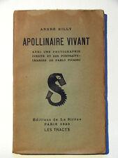 ANDRÉ BILLY : APOLLINAIRE VIVANT / PORTRAITS DE PICASSO / LA SIRÈNE / 1923 / EO