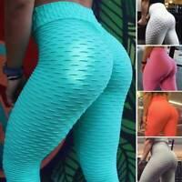 Women Yoga Pants High Waist Leggings Push Up Casual Workout Running Gym Trousers
