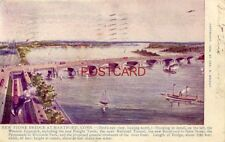 1907 NEW STONE BRIDGE AT HARTFORD, CONN. Bird's-eye view