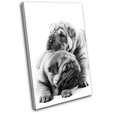 Pug Puppies Dog Animals SINGLE TOILE murale ART Photo Print