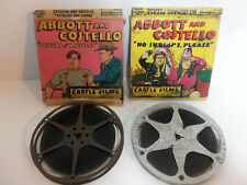 Vintage Castle Films Abbott and Costello 8mm Film Reels Oysters & Muscles Indian