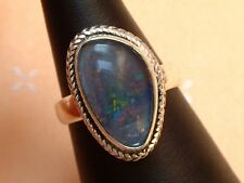 Exclusiver Opal Ring - 22 x 14 mm - tolle Farben - Sterling Silber - 925 - Gr 59