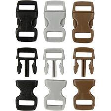 5 haga clic en Broches mini sujetadores plásticos Joyas Pulsera Paracord Bolsa 3 Tonos