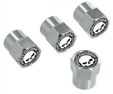 Harley-Davidson Willie G Skull Valve Stem Cap Covers Chrome – 5 Pack HDVC240