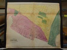 Connecticut, Hartford County Map 1869 City of Hartford 1st 6th & 7th Ward !N5#28