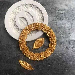 Flower Leaves Silicone Cake Decorating Gum Paste Fondant Mold Mould Chocolate BM