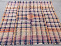 Old Tribal Nomadic Hand Made Persian Oriental Pink Wool MOJJ Kilim 188x167cm
