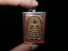 Thai Buddhist Sacred Powder Gold Lacquer Somdej Buddha Amulet Pendant III