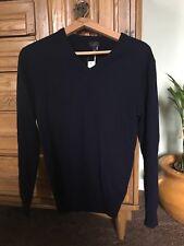 J.Crew Italian Cashmere V-neck Sweater Men's Size XS Navy $225