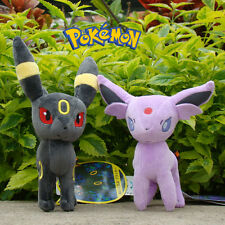 "2Pcs Pokemon Go Plush Toy Umbreon & Espeon 6"" Collectible Stuffed Animal Doll"