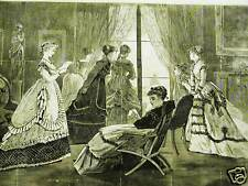 Winslow Homer NEW YEAR'S DAY CALLS 1869 Antique Engraving Print Matted