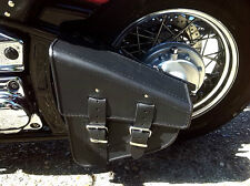 Swingarm Solo Single Sided Pannier Saddle Bag Leather Harley Davidson Softail