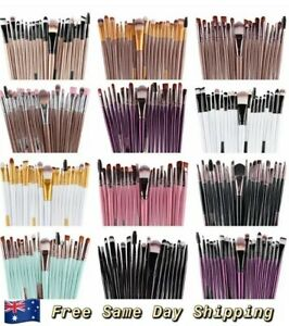 20pcs Makeup Brush Set Kit Eyebrow Blush Foundation Powder Contour Lip Eyeshadow
