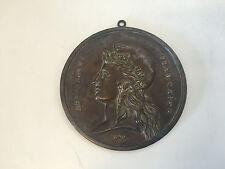 Vtg Antique Bronze Plaque Depicting French Marianne Republique Francaise 1870