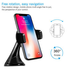Qi Wireless Fast Car Charger Magnetic Holder Mount for Apple iPhone X 8 8 Plus
