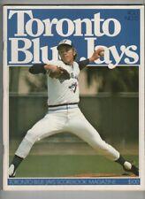 Toronto Blue Jays Scorebook Vs Cleveland Indians Vol.1 No.15 1977 022221nonr