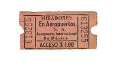 Aeropuerto Internacional de México - Miradores en Aeropuertos, S.A. - $ 1 Peso