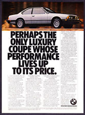 "1981 BMW 633CSi GT Coupe photo ""Worthy of the Name"" vintage promo print ad"