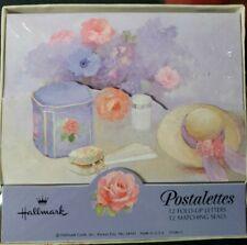 Vintage Box Postalettes Victorian Hallmark Letter Writing Stationery Set. New