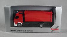 """HERPA 297196 [H0,1:87] Volvo Wechsellader Großraummulde, rot """"Feuerwehr"""" - NEU!"""