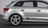 2x Audi Sport Aufkleber Logo Simbol auf der Seite, usw. A1 A2 A3 A4 A5 A6 A7 A8.