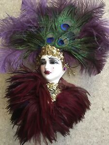 Unique Creations Face Mask Victorian style beautiful Hand Crafted And Signed
