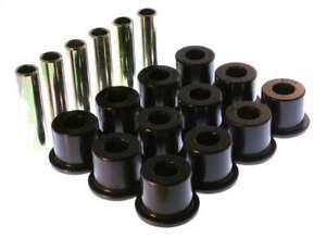ENERGY SUSPENSION Chevy Rear Spring Bushing Set Black P/N - 3.2106G