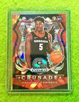 ANTHONY EDWARDS RED ICE PRIZM ROOKIE CARD RC CRUSADE 2020 MINNESOTA TIMBERWOLVES