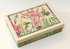 New Seasons Kathy Rusynyk Hummingbirds Stationery & Note Cards Set, Boxed