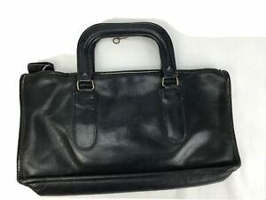 VTG COACH Bonnie Cashin  Leather SLIM SATCHEL HANDBAG EARLY EDITION Purse Black