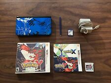 Nintendo 3DS XL Pokemon XY Theme Limited Edition Blue System Bundle + Pokemon Y