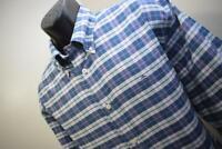 41628 Mens Brooks Brothers Madison Long Sleeve Oxford Plaid Dress Shirt Size XL