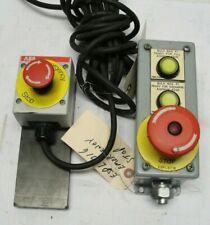 Emergency Stop Control Station Steel Box Espl8716 Dual Indicators Aab Stop