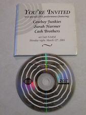 COWBOY JUNKIES SARAH HARMER CASH BROTHERS 6 TRACK 2001 PROMO ONLY CD CLUB NARM