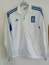 GREECE RARE AUTHENTIC FOOTBALL JACKET BY ADIDAS LARGE GREEK HELLAS