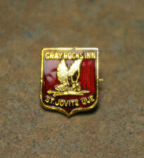RARE ORIGINAL 'GRAY ROCK INN' 'ST. JOVITE, QUEBEC, CANADA' ENAMEL METAL PIN