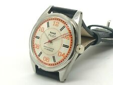 hmt pilot men stainless steel winding made India wristwatch run order